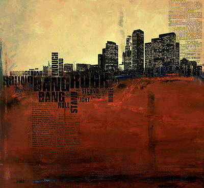 Chicago Oil Painting - Los Angeles Collage 3 by Corporate Art Task Force