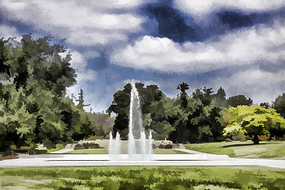 Digital Art - Los Angeles County Arboretum by Photographic Art by Russel Ray Photos
