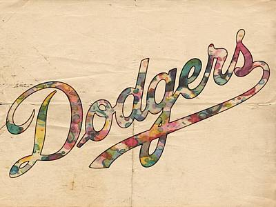 Bats Painting - Los Angeles Dodgers Poster Vintage by Florian Rodarte