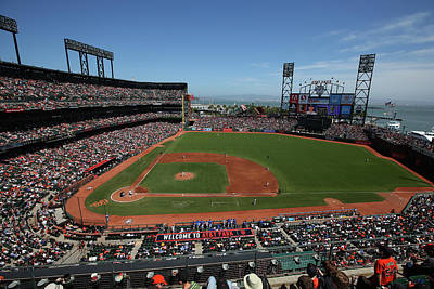 Photograph - Los Angeles Dodgers V. San Francisco by Brad Mangin