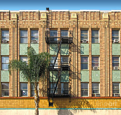 Los Angeles Facade Art Print by Gregory Dyer