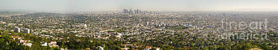 Photograph - Los Angeles From Griffith Park by Gregory Dyer