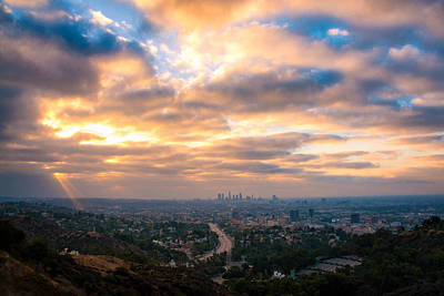 Hollywood Bowl Photograph - Los Angeles From The Hollywood Bowl Overlook by Celso Diniz