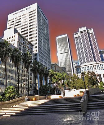 Los Angeles Historic Center Art Print by Gregory Dyer