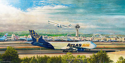 Painting - Los Angeles International Airport by Douglas Castleman