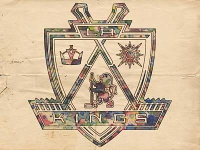 Painting - Los Angeles Kings Hockey Poster by Florian Rodarte