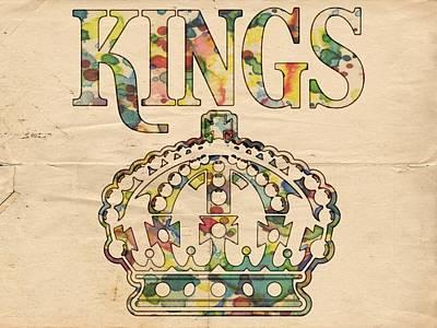 Digital Art - Los Angeles Kings Retro Poster by Florian Rodarte