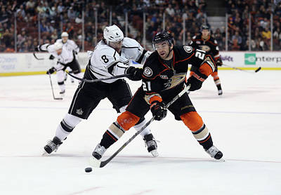 Los Angeles Kings Photograph - Los Angeles Kings V Anaheim Ducks by Jeff Gross
