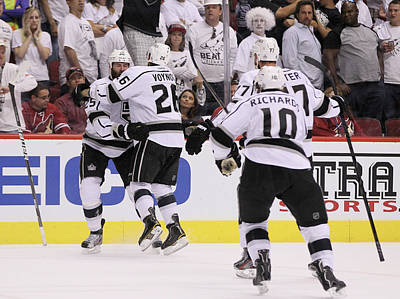 Los Angeles Kings Photograph - Los Angeles Kings V Phoenix Coyotes - by Jeff Gross