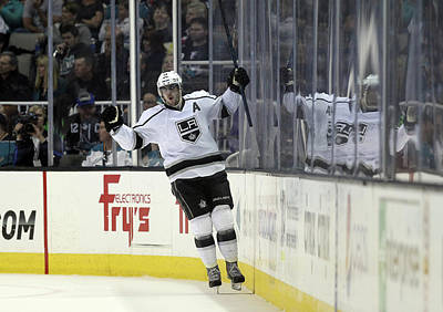 Los Angeles Kings Photograph - Los Angeles Kings V San Jose Sharks - by Ezra Shaw