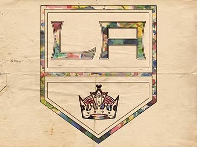 Digital Art - Los Angeles Kings Vintage Art by Florian Rodarte