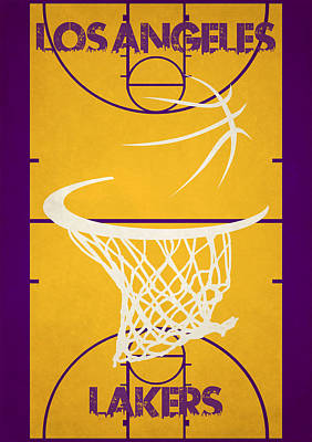 Los Angeles Lakers Court Art Print by Joe Hamilton