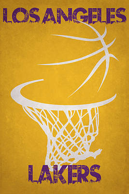 Los Angeles Lakers Hoop Art Print by Joe Hamilton