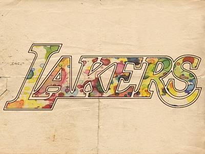 Painting - Los Angeles Lakers Logo Art by Florian Rodarte