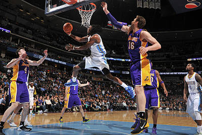 Photograph - Los Angeles Lakers V Denver Nuggets by Bart Young