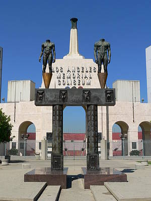Photograph - Los Angeles Memorial Coliseum by Jeff Lowe