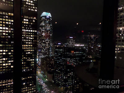 Photograph - Los Angeles Nightscape by HEVi FineArt