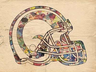 Los Angeles Painting - Los Angeles Rams Logo Vintage by Florian Rodarte