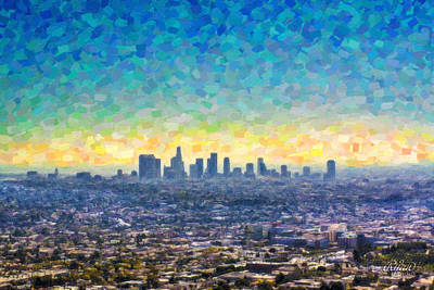 Wall Art - Digital Art - Los Angeles by Ryan Cosgrove