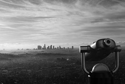 Photograph - Los Angeles Skyline As Seen From by Stephen Albanese
