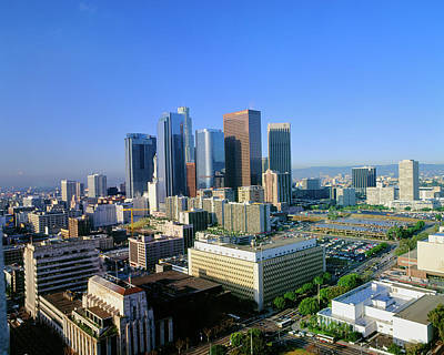 Los Angeles Skyline From City Hall Art Print