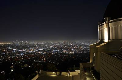Los Angeles Skyline From Griffith Observatory Art Print by David Lobos
