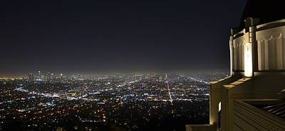 Los Angeles Skyline Panorama From The Griffith Observatory Art Print by David Lobos