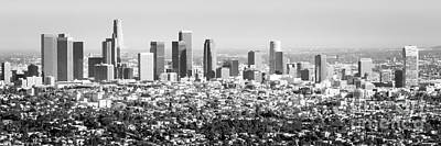 Skylines Royalty-Free and Rights-Managed Images - Los Angeles Skyline Panorama Photo by Paul Velgos