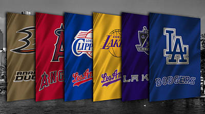 Los Angeles Sports Teams Art Print by Joe Hamilton