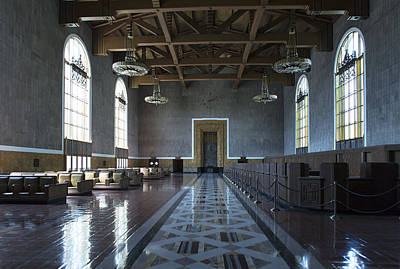 Photograph - Los Angeles Union Station Original Ticket Lobby by Belinda Greb