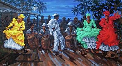 Bomba Painting - Los Ayala by Samuel Lind