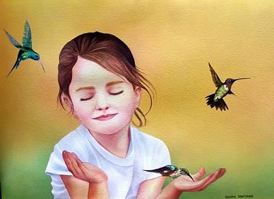 Painting - Los Colibres by Susan Santiago