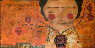 Painting - Los Corazones De Mi Arbol by Thelma Lugo