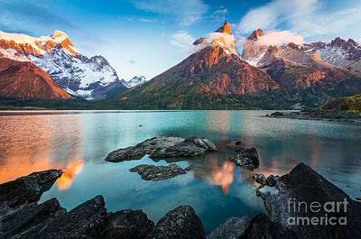 South America Photograph - Los Cuernos Dawn by Inge Johnsson