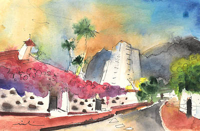 Painting - Los Gigantes In Tenerife 01 by Miki De Goodaboom
