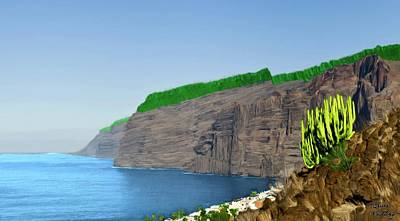 Painting - Los Gigantes Tenerife Spain by Bruce Nutting