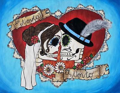 Velo Painting - Los Novios by Jessica  Venzor