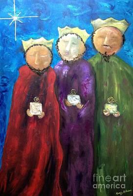 Painting - Los Reyes Magos by Reina Resto