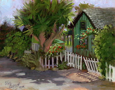 Vines Painting - Los Rios Street San Juan Capistrano California by Alice Leggett