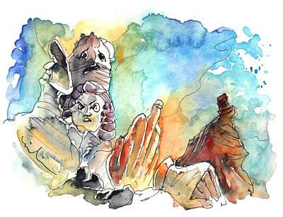 Painting - Los Roques De Garcia Family 04 by Miki De Goodaboom