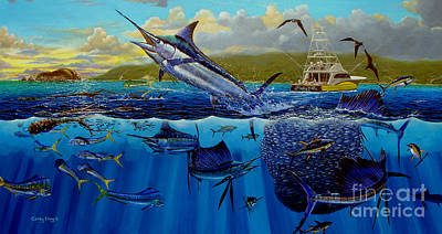 Sharks Painting - Los Suenos by Carey Chen