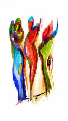 Digital Art - Los Tres Alegres Compadres II by Rafael Salazar