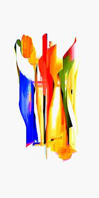Digital Art - Los Tres Alegres Compadres by Rafael Salazar