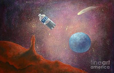 Outer Space Painting - Lose Weight With Diet 0 by Randy Burns