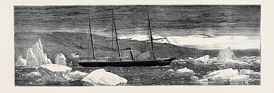 Loss Of The American Arctic Exploring Vessel Jeanette Print by English School