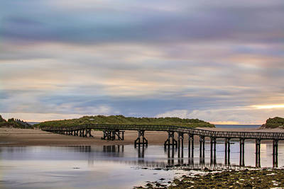 Photograph - Lossiemouth Walk Bridge by Veli Bariskan