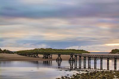 Lossiemouth Walk Bridge Art Print