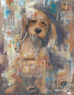 Dog Rescue Mixed Media - Lost And Found by Robin Wiesneth