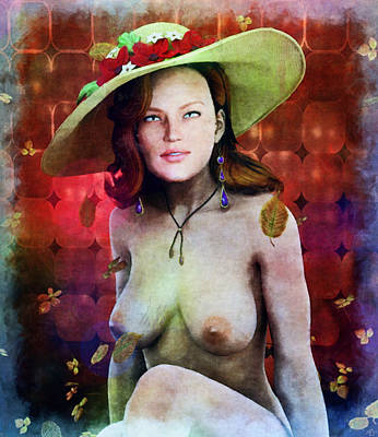 Painting - Lost Art - The Hat by Maynard Ellis