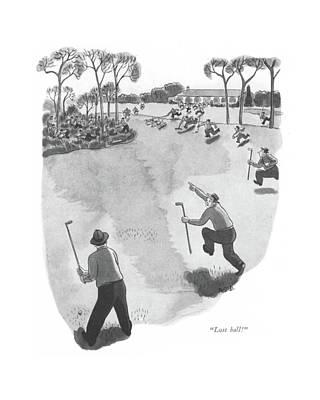 Lost Ball! Art Print by Robert J. Day